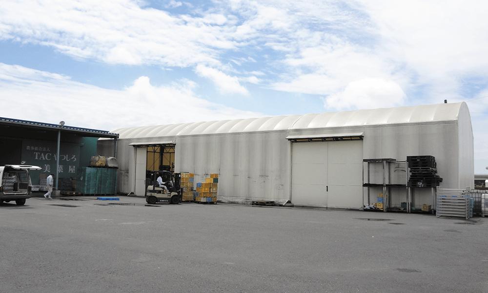 テント倉庫施設